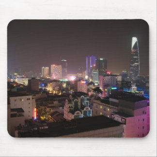 Night time cityscape of Ho Chi Minh City. Mouse Mat