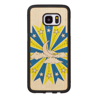Night Time Dreamscape Illustration Wood Samsung Galaxy S7 Edge Case