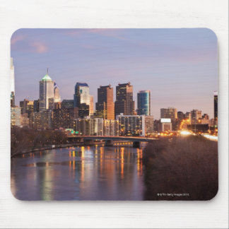 Night time panoramic view at Philadelphia Mouse Mat