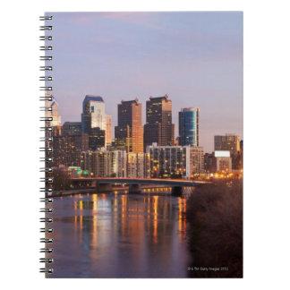 Night time panoramic view at Philadelphia Spiral Notebooks