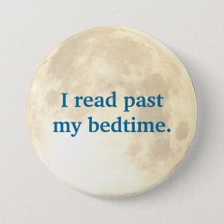 Night Time Reading 7.5 Cm Round Badge