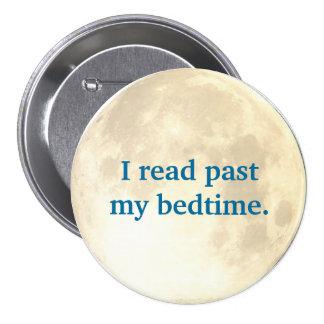 Night Time Reading 7.5 Cm Round Badge