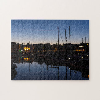 Night time reflections jigsaw puzzle