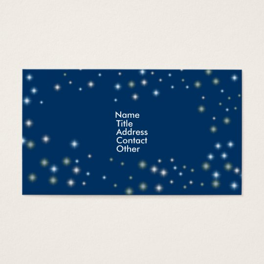 Night Time Stars Business Card