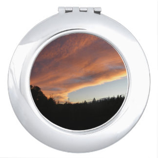 Night Time Storm Clouds Compact Mirror