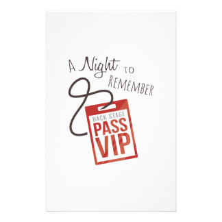 Night to Remember Stationery Design