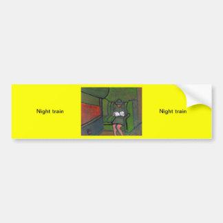 Night train car bumper sticker