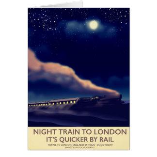 Night Train To London. Card