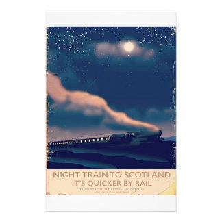 Night train to Scotland Customised Stationery