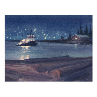 NIGHT TUG by SHARON SHARPE Postcard