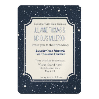 Night Under the Stars Wedding 13 Cm X 18 Cm Invitation Card