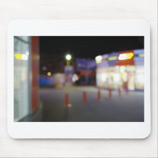 Night urban scene with blurred lights mouse pad