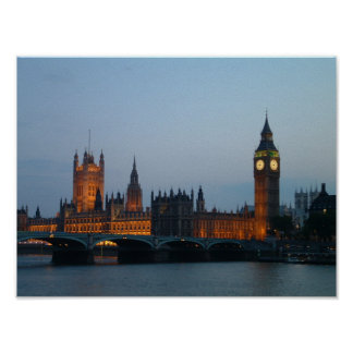 Night view House of Parliament Poster