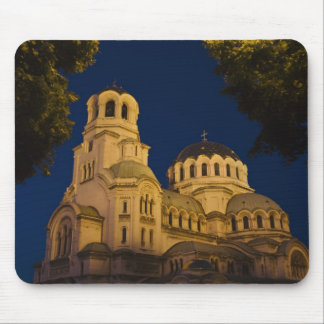 Night view of Alexander Nevski Cathedral Mouse Pad