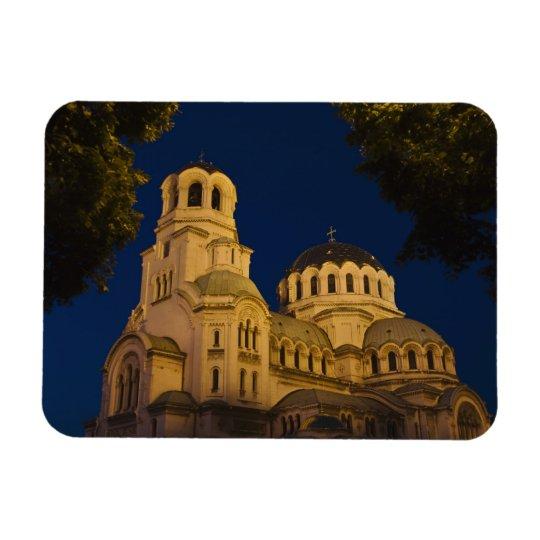 Night view of Alexander Nevski Cathedral Rectangular Photo Magnet