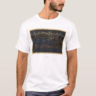 Night View of Bay Metropolitan Area T-Shirt