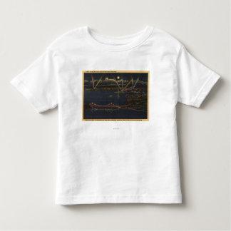 Night View of Bay Metropolitan Area Toddler T-Shirt