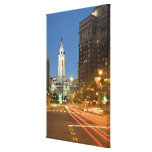 Night view of Benjamin Franklin parkway Canvas Print