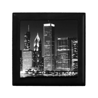 Night view of Chicago's famous cityscape Gift Box