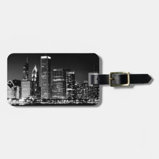 Night view of Chicago's famous cityscape Luggage Tag