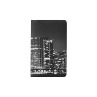 Night view of Chicago's famous cityscape Pocket Moleskine Notebook