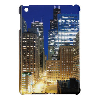 Night view of cityscape of Chicago Cover For The iPad Mini