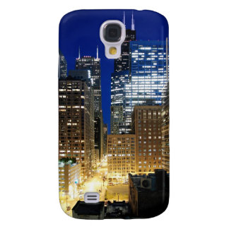 Night view of cityscape of Chicago Galaxy S4 Case
