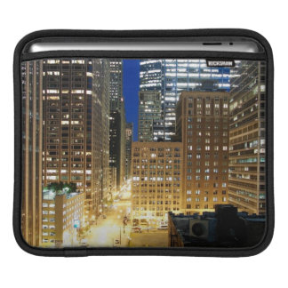 Night view of cityscape of Chicago iPad Sleeve