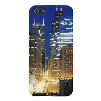 Night view of cityscape of Chicago iPhone 5/5S Cover