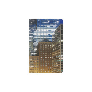 Night view of cityscape of Chicago Pocket Moleskine Notebook