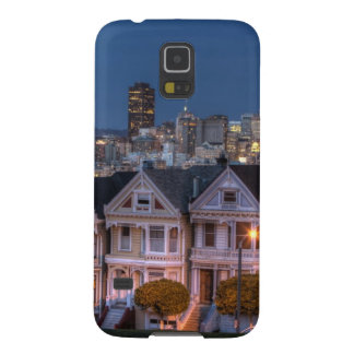 Night view of 'painted ladies'  houses cases for galaxy s5