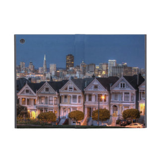 Night view of 'painted ladies'  houses cover for iPad mini