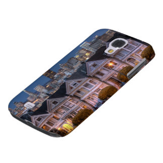Night view of 'painted ladies'  houses galaxy s4 case