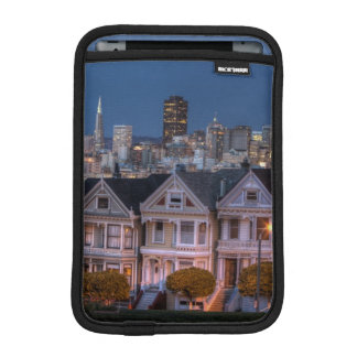 Night view of 'painted ladies'  houses iPad mini sleeve