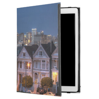 """Night view of 'painted ladies'  houses iPad pro 12.9"""" case"""