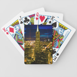 Night view of San Francisco. Bicycle Playing Cards