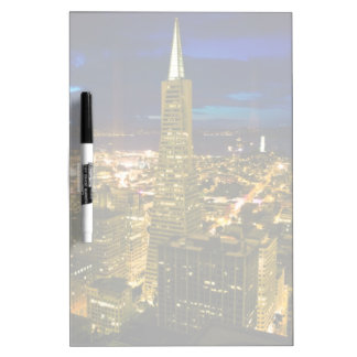 Night view of San Francisco. Dry Erase Board