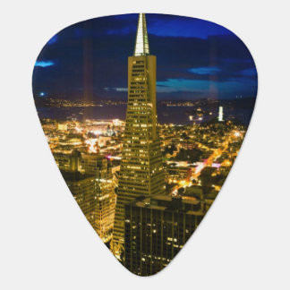 Night view of San Francisco. Guitar Pick