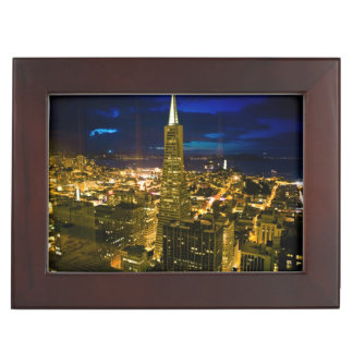 Night view of San Francisco. Keepsake Box