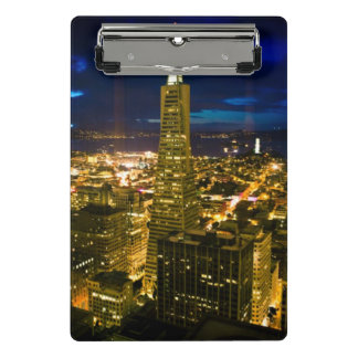 Night view of San Francisco. Mini Clipboard