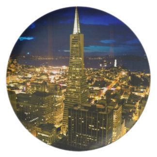 Night view of San Francisco. Plate