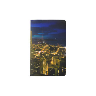 Night view of San Francisco. Pocket Moleskine Notebook