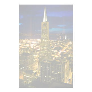 Night view of San Francisco. Stationery Design
