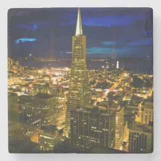 Night view of San Francisco. Stone Coaster