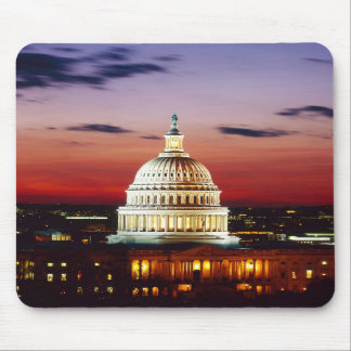 Night view of the U S Capitol Mousepad