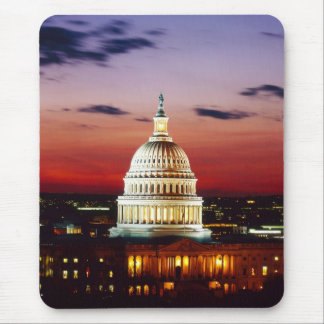 Night view of the U.S. Capitol Mouse Pad