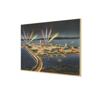 Night View of Treasure Island, Internat'l Expo Stretched Canvas Prints