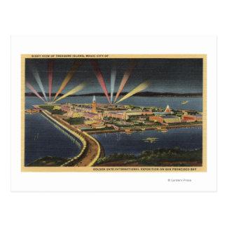 Night View of Treasure Island, Internat'l Expo Postcard