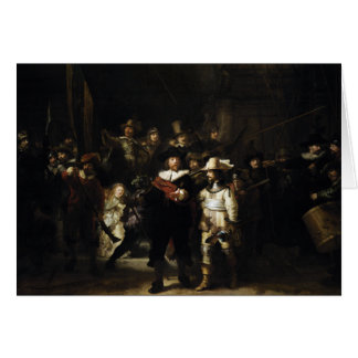 Night Watch by Rembrandt Greeting Cards