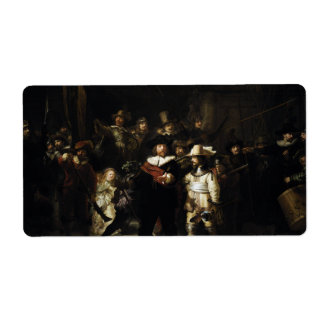 Night Watch by Rembrandt Shipping Label